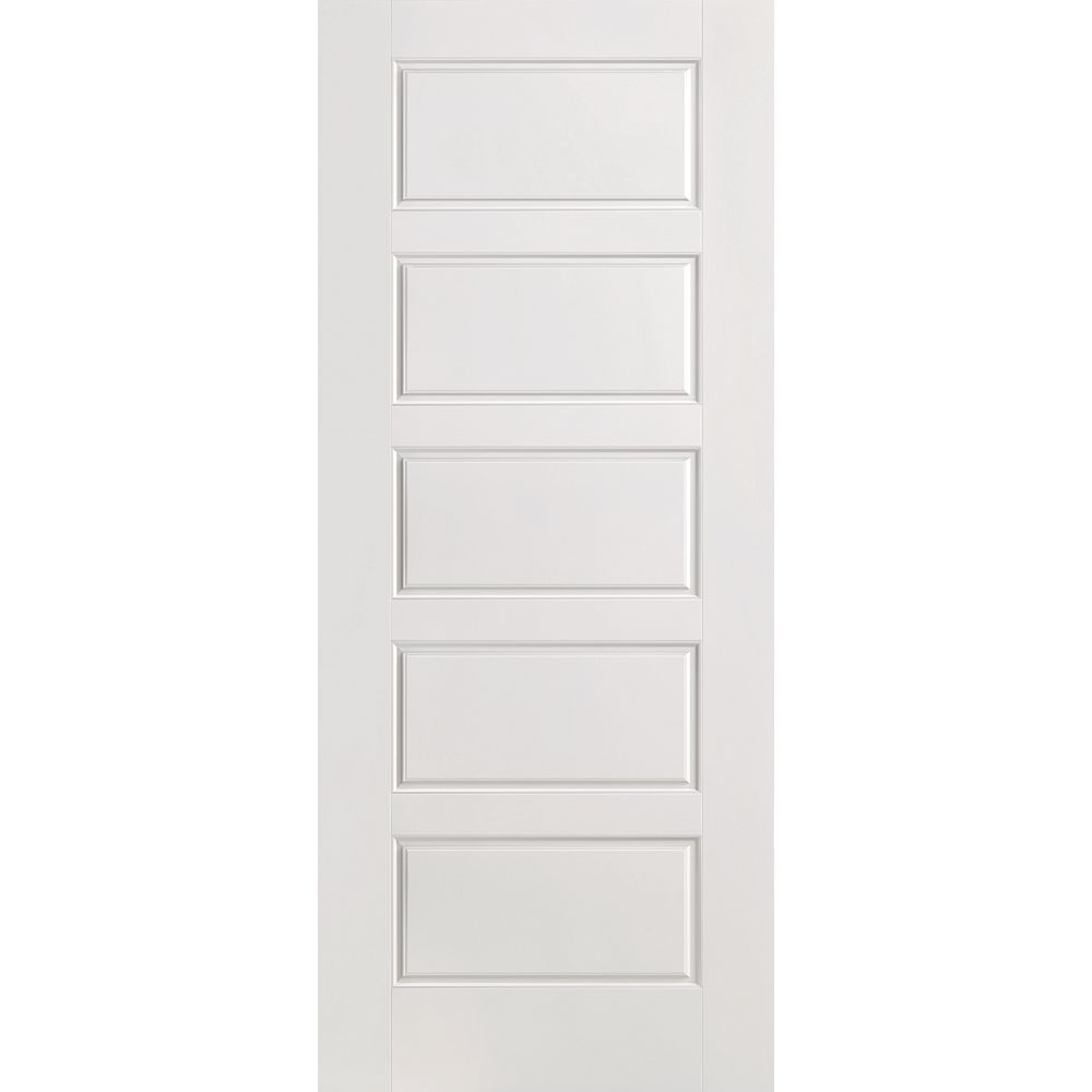 Masonite 36-inch x 80-inch Primed Smooth 5 Panel Equal Interior Door Slab