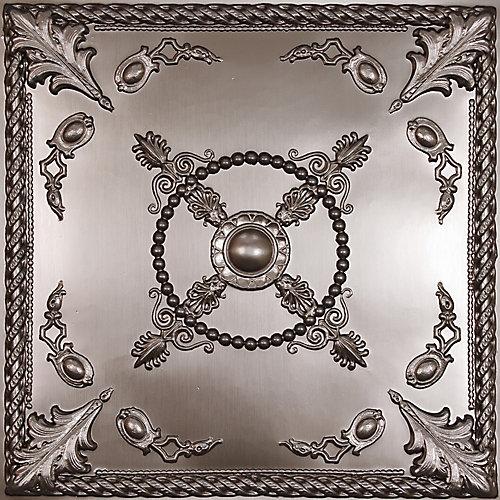 Alexander Tuile de Plafond en Faux Etain, 2 pieds x 2 pieds à poser ou coller