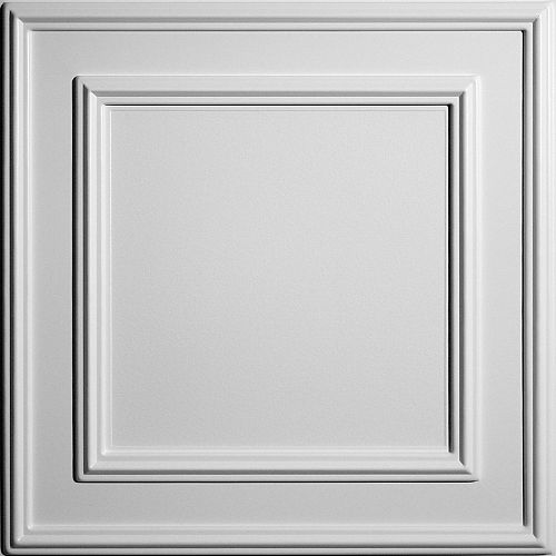 Cambridge 2 ft. x 2 ft. Lay-in or Glue-in White Ceiling Tile