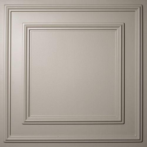 Ceilume Cambridge Tuile de Plafond Latte , 2 pieds x 2 pieds à poser ou coller