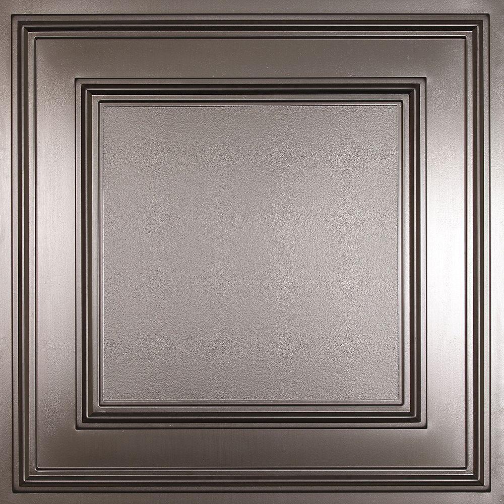 Ceilume Cambridge Faux Tin Ceiling Tile, 2 Feet x 2 Feet Lay-in or Glue up