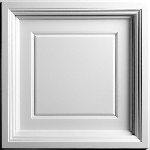 Madison Tuile de Plafond Blanche Coffrée,2 pieds x 2 pieds à poser uniquement