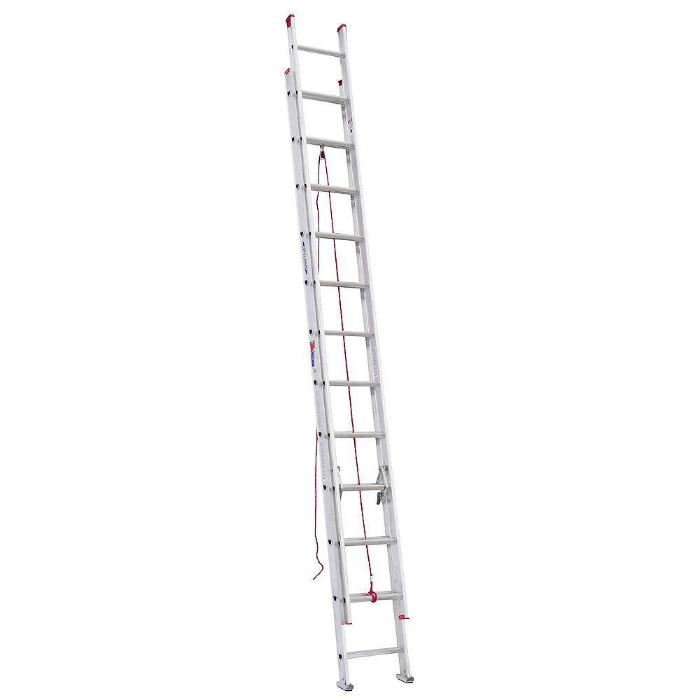 Werner Aluminum Extension Ladder Grade 3 (200 lb. Load Capacity) - 24 Feet D1124-2CA