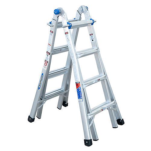 Aluminum Telescoping Multi-Purpose  Ladder Grade 1A (300 lb. Load Capacity) - 17 Feet