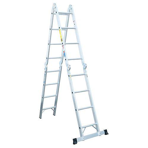 Aluminum Articulating Multi Ladder Grade 1A (300 lb. Load Capacity) - 16 Feet