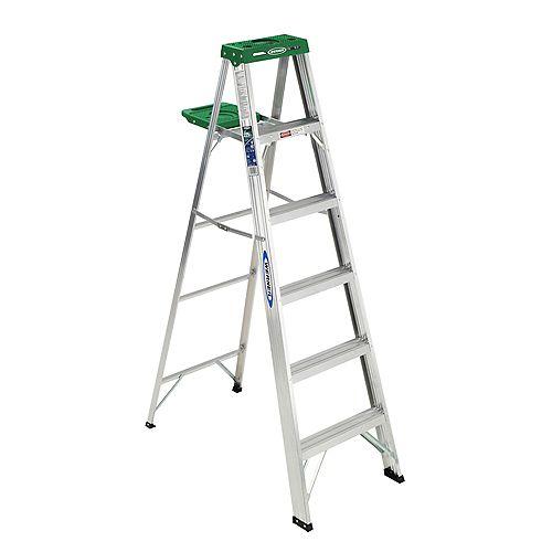 Aluminum Stepladder Grade 2 (225 lb. Load Capacity) - 6 Feet