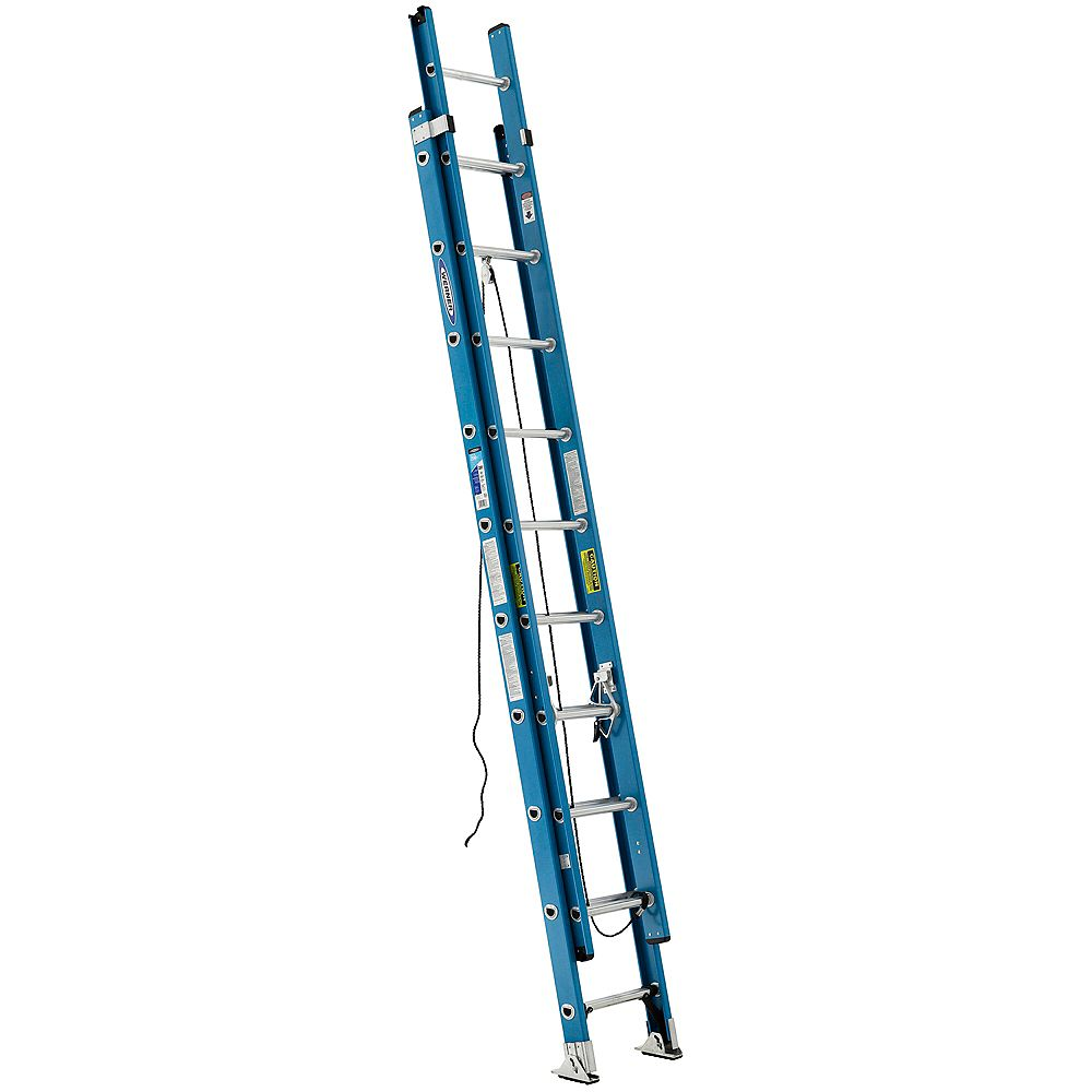 Werner fibreglass Extension Ladder Grade 1 (250 lb. Load Capacity) - 20 Feet