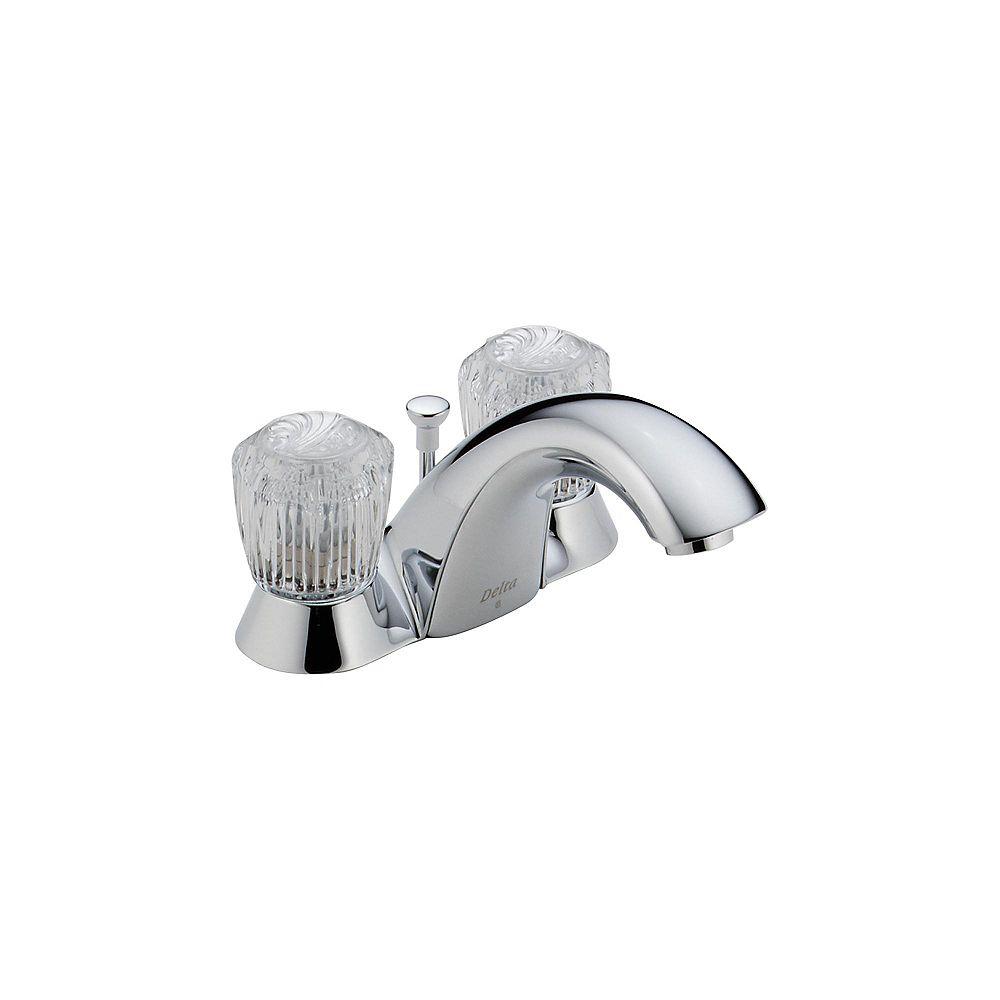 Delta Robinet de salle de bains à deux manettes à jeu central Innovations en chrome de 10,16 cm (4 po)