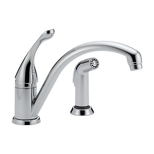 Delta Collins Single Handle Side Sprayer Kitchen Faucet in Chrome