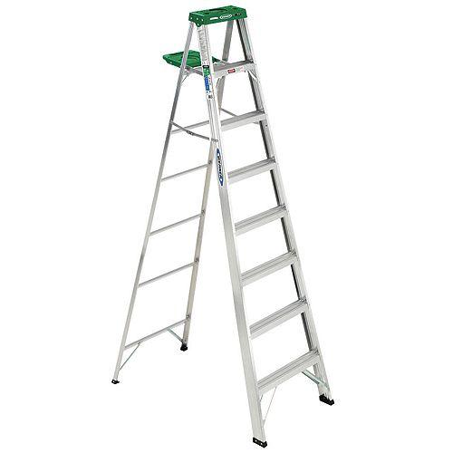 Aluminum Stepladder Grade 2 (225 lb. Load Capacity) - 8 Feet