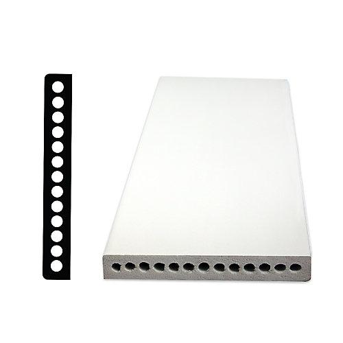 Plinthe en PVC 1/2 po x 3-1/2 po x 96 po