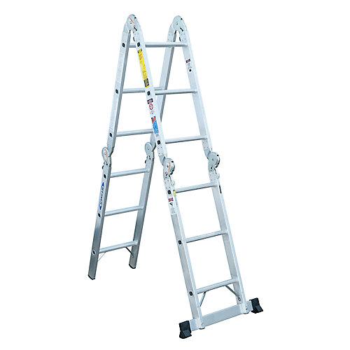 Aluminum Articulating Multi Ladder Grade 1A (300 lb. Load Capacity) - 12 Feet