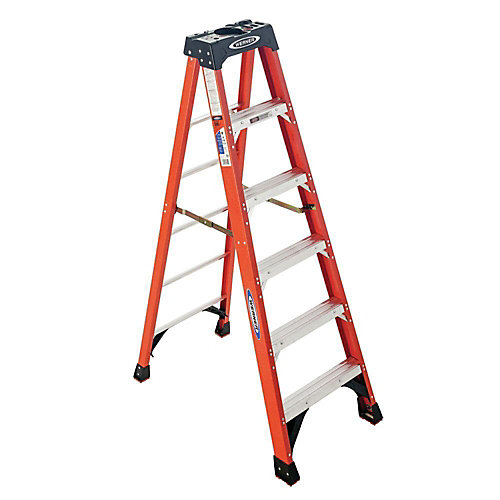 6 ft. Grade 1A Fibreglass Stepladder (300 lbs. Load Capacity)