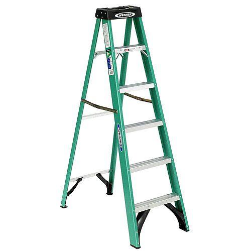 fibreglass Stepladder Grade 2 (225 lb. Load Capacity) - 6 Feet