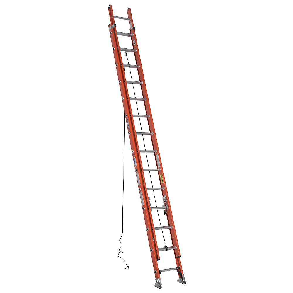 Werner D6228-2CA Fiberglass Extension Ladder Grade 1A (300 lb. Load Capacity) - 28 Feet