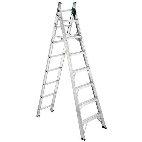 Aluminum Combo Ladder Grade 2 (225 lb. Load Capacity) - 8 Feet Step/13 Feet Extension