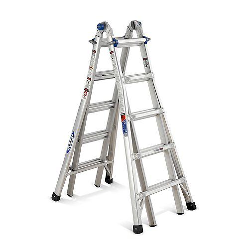Aluminum Telescoping Multi-Purpose  Ladder Grade 1A (300 lb. Load Capacity) - 22 Feet