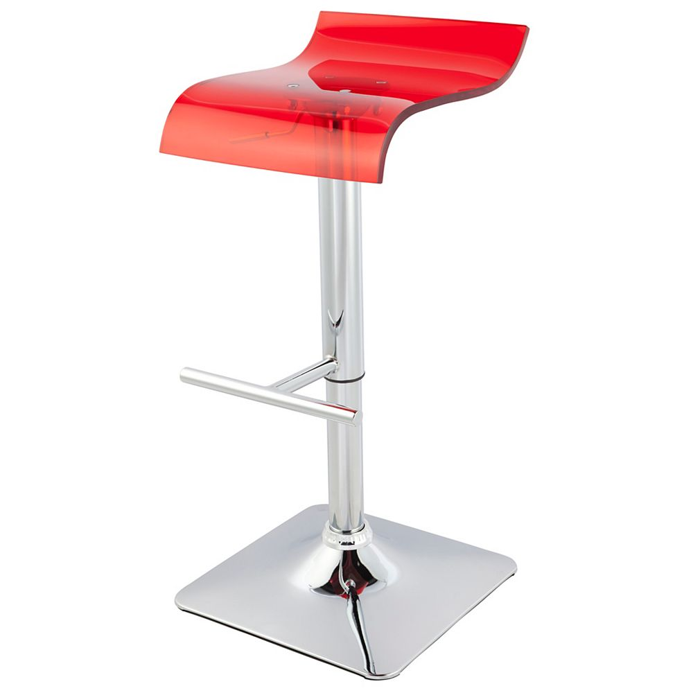 Worldwide Homefurnishings Inc. Zip tabouret avec verin r gaz - ensemble de deux - Rouge