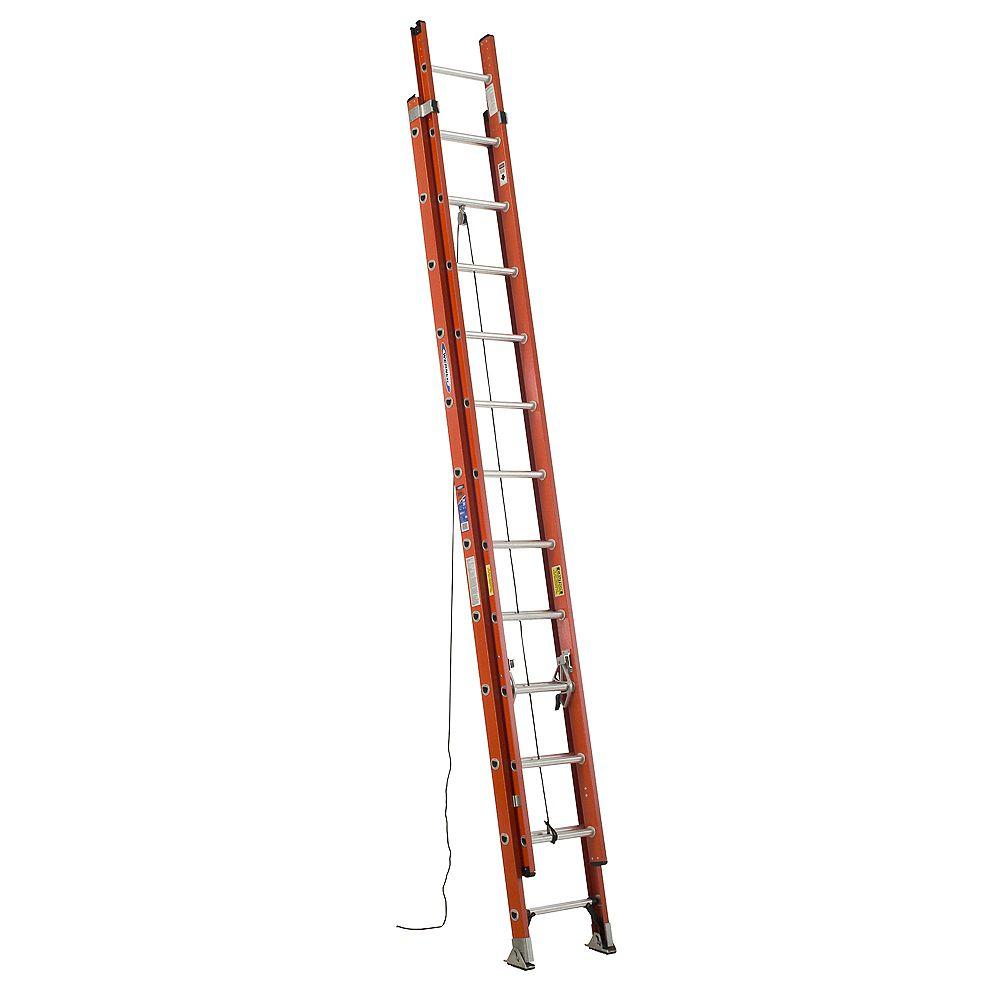 Werner D6224-2CA Fiberglass Extension Ladder Grade 1A (300 lb. Load Capacity) - 24 Feet