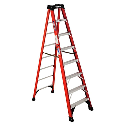 8 ft. Grade 1A Fibreglass Stepladder (300 lbs. Load Capacity)