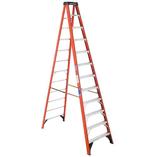 fibreglass Stepladder Grade 1A (300 lb. Load Capacity) - 12 Feet