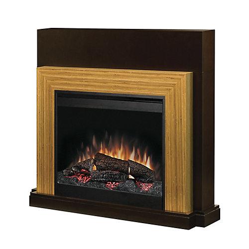Halton Full Size Fireplace - Espresso/Bamboo