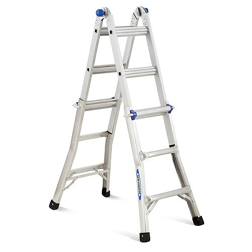 13 ft. Aluminum Telescoping Multi-Purpose Ladder with 300 lb. Capacity and Grade 1A Rating