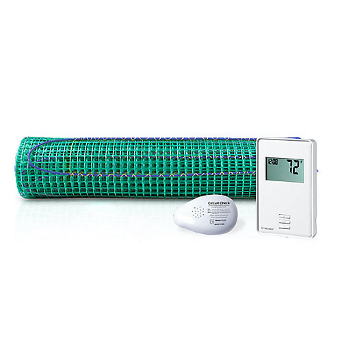 9 Sq. Ft. TempZone Floor Heating Roll and Non-Programmable Thermostat