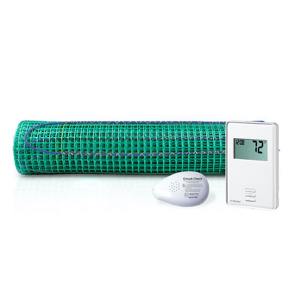 WarmlyYours 9 Sq. Ft. TempZone Floor Heating Roll and Non-Programmable Thermostat