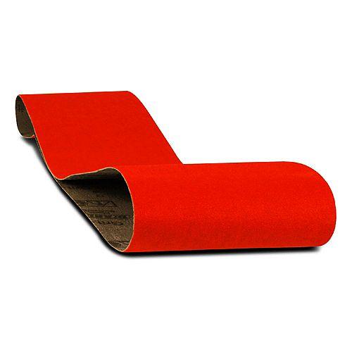 4-inch x 36-inch Medium Finish 80 Grit Sand Paper Belt for Wood/Metal/Plastic Sanding
