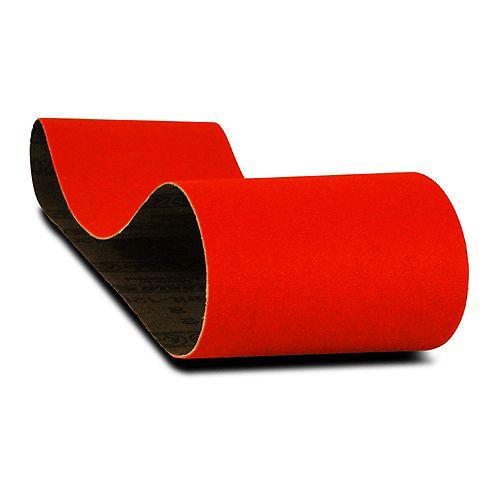 3-inch x 24-inch Medium Finish 80 Grit Sand Paper Belt for Wood/Metal/Plastic Sanding (2 Pack)