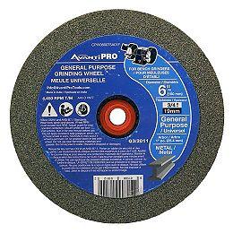 Roue/disque coupés de moulin de banc de 6 pouces x 3/4 pouces x de 1 pouce pour le meulage en métal