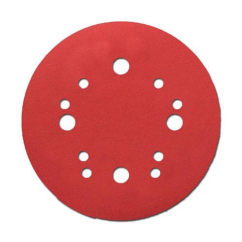 5-inch Medium Finish 100 Grit Hook and Loop Random Orbital Sand Paper (ROS) Disc for Wood/Metal/Plastic Sanding (4 Pack)