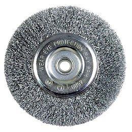 Brosse/roue de moulin de banc de fil de 6 pouces pour l'enlèvement de rouille en bois/métal