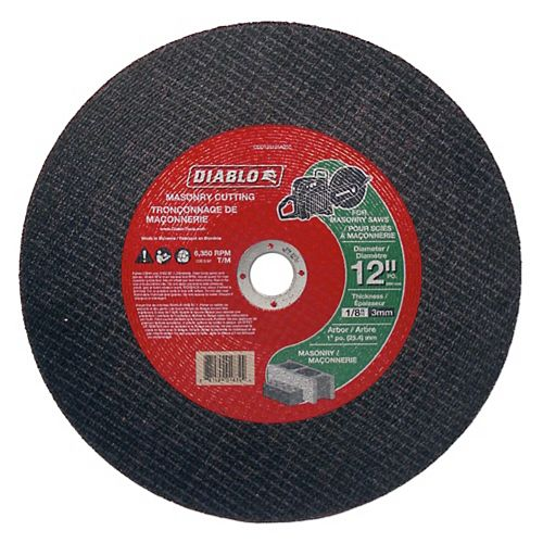 Masonry High-Speed Cut-Off Disc 12 x 1/8 x 1