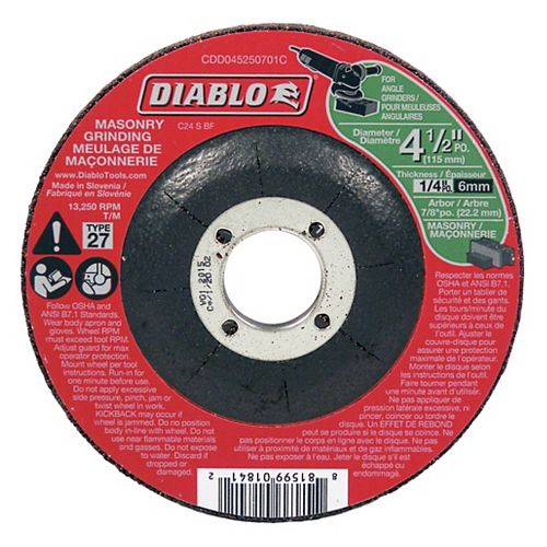 4-1/2 in. Masonry Grinding Disc Type 27