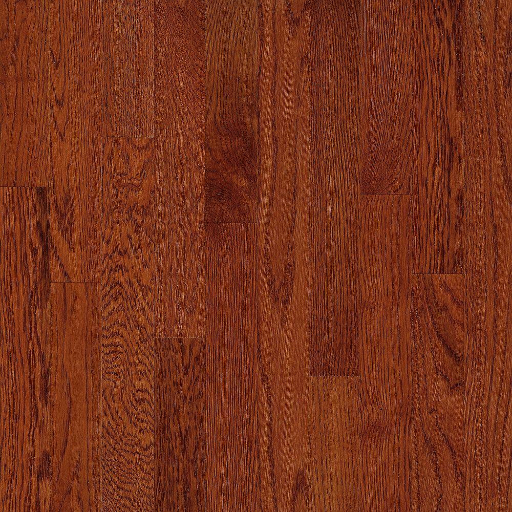 Bruce Plancher AO, bois massif, 5/16 po x 2 1/4 po, Chêne Ginger Snap, 40 pi2/boîte