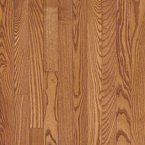 Plancher AO, bois massif, 5/16 po x 2 1/4 po, Chêne cuivre clair, 40 pi2/boîte