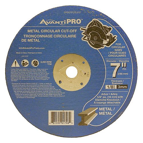 7 x 1/8 Metal Cut-Off Disc