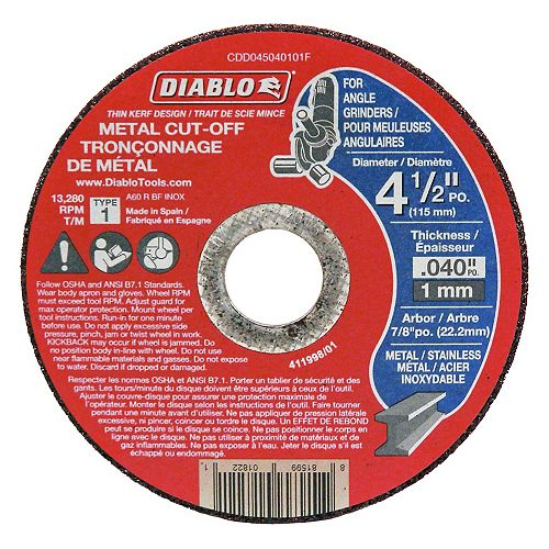 4-1/2 x 7/8 in. Cut-off Disc for Metal