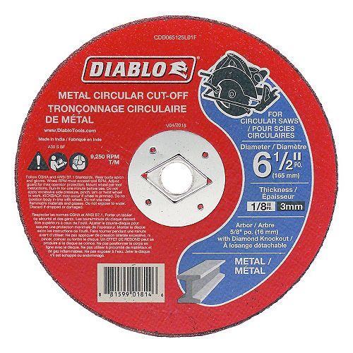 Disque circulaire a tronconnage de metal