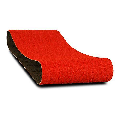 4-inch x 24-inch Coarse Finish 50 Grit Sand Paper Belt for Wood/Metal/Plastic Sanding (2 Pack)