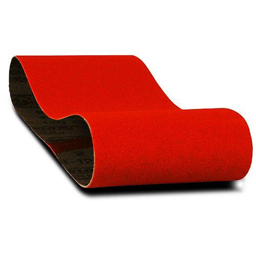 3-inch x 18-inch Medium Finish 80 Grit Sand Paper Belt for Wood/Metal/Plastic Sanding (5 Pack)