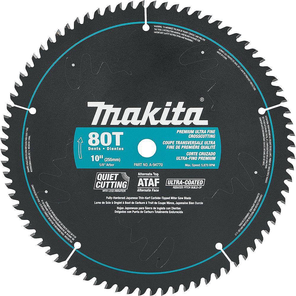 "MAKITA 10"" x 80T CT ATAF Mitre Saw Blade"