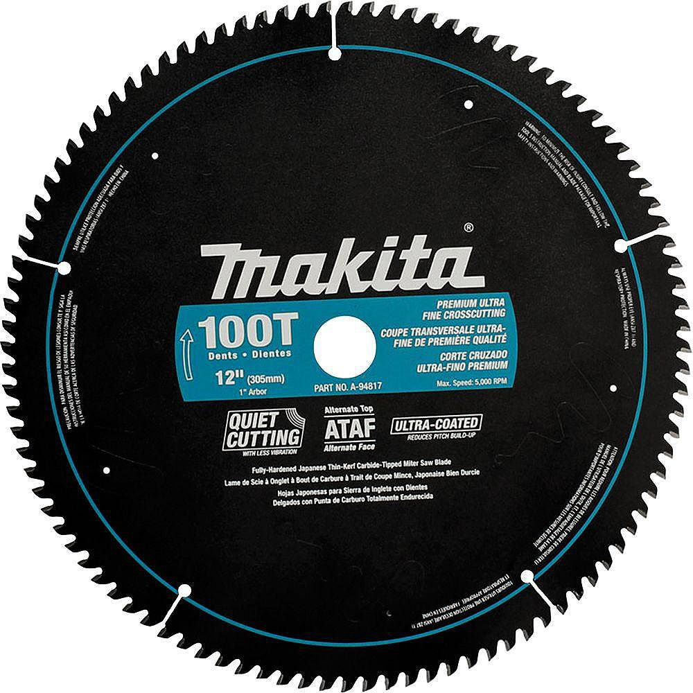 MAKITA Lame carbure de scie à onglets 12 po 100 dents ATAF