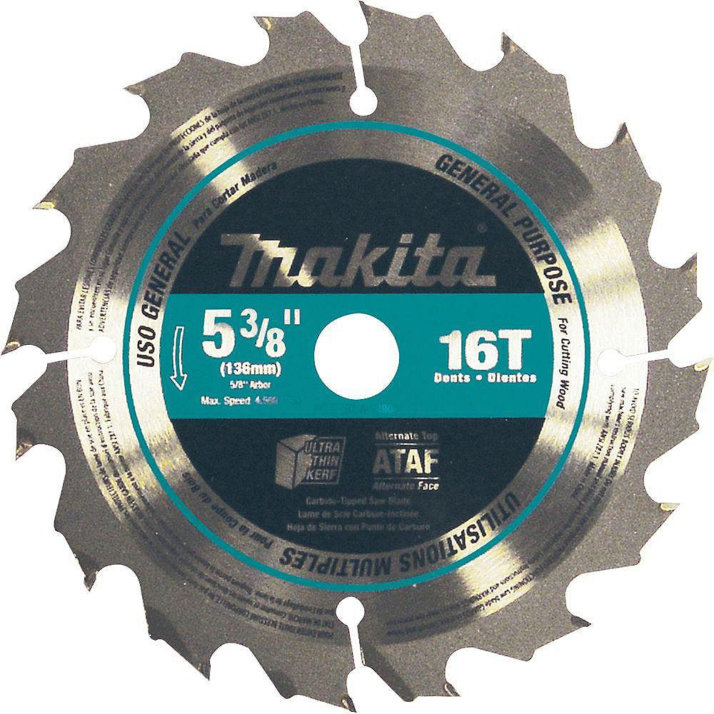 MAKITA Lame carbure de scie circulaire 5-3/8 po 16 dents