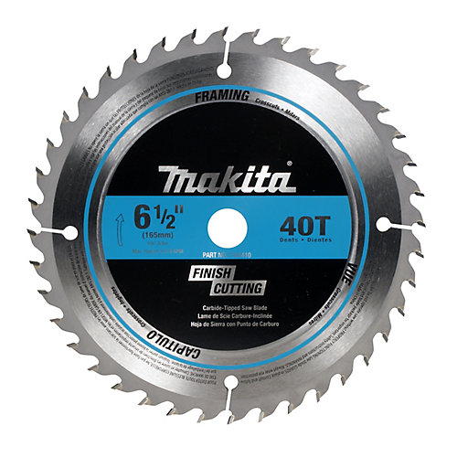 "6 1/2"" Circular Saw Blade 40CT Finish Cutting Crosscutting Mitre Cuts"