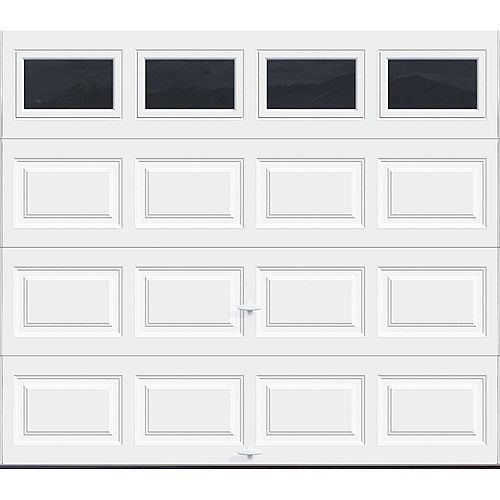 Classic Steel 8 ft. x 7 ft. 6.5 R-Value Insulated Solid White Garage Door