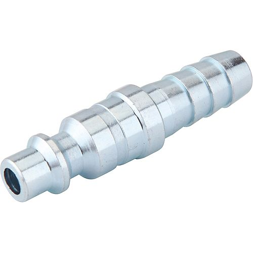1/4 Inch x 3/8 Inch Industrial Barbed Plug with Clamp