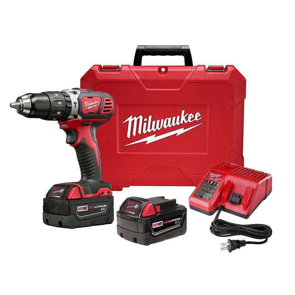Milwaukee Tool 1/2-inch M18 Compact Hammer Drill/Driver Kit